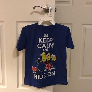 Boys Minion Keep Calm Shirt 👕 XS Despicable Me